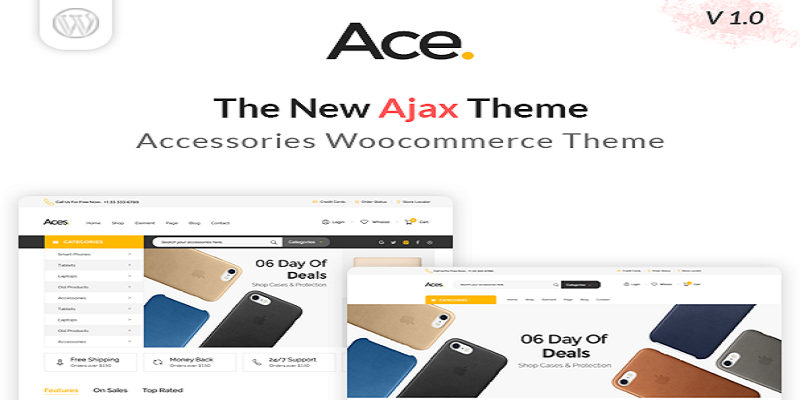 Ace - Accessories AJAX Woocommerce Theme