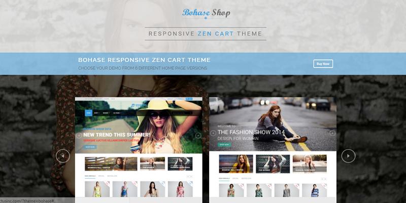 Bohase - Responsive and Multipurpose Zen cart Theme