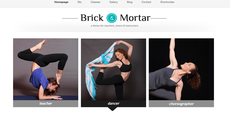 Brick & Mortar - A Personal Business Template