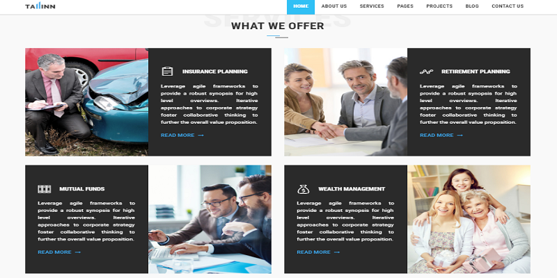 Business Finance and Consultancy HTML Template - Tallinn
