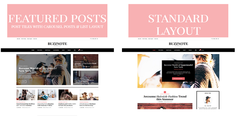 Buzznote - A Responsive WordPress Blog Theme
