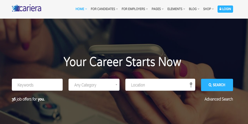 Cariera - Job Board HTML Template