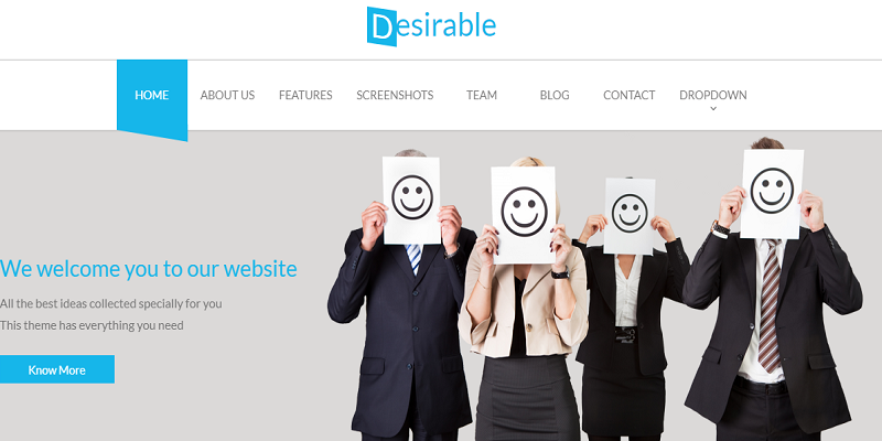 Desirable -  Business Landing Page Template