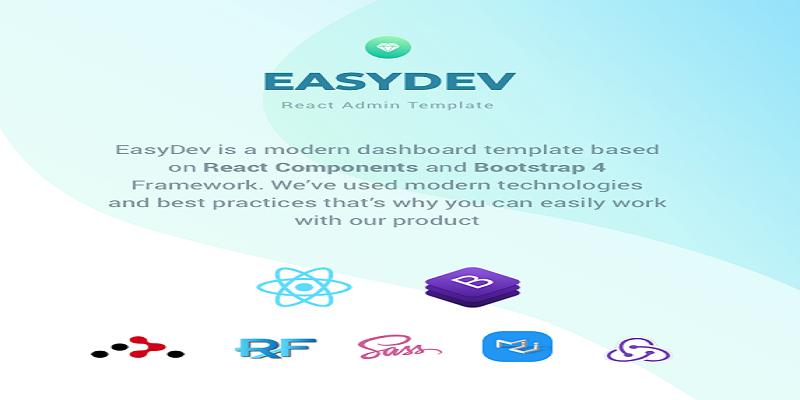 EasyDev — Developer Friendly React Redux Bootstrap 4 Admin