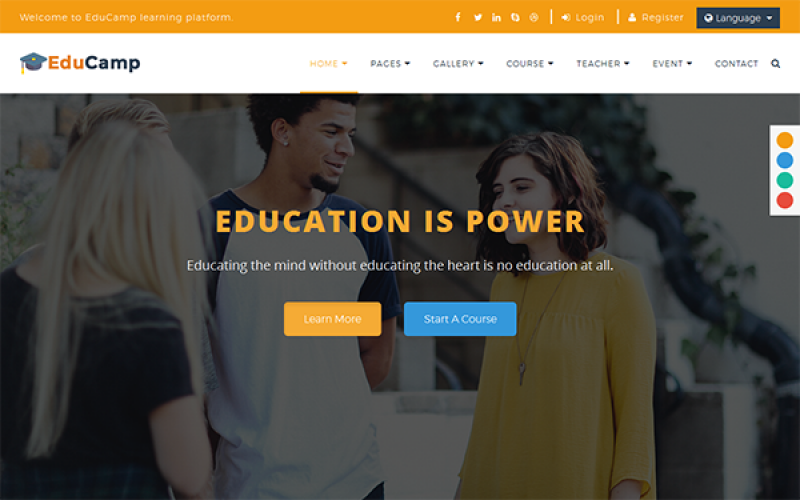 EduCamp - Multipurpose Education Theme
