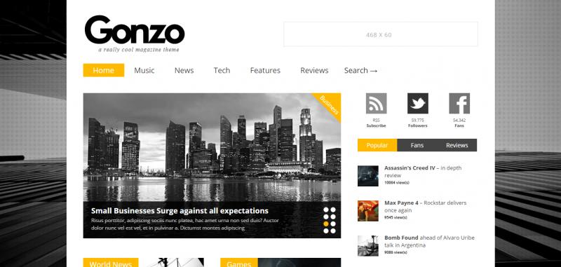 Gonzo -  Clean, Responsive WP Magazine