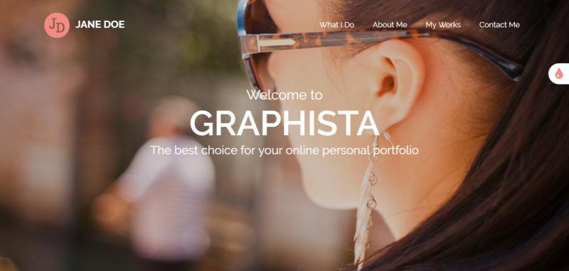 Graphista - One-Page Creative Portfolio