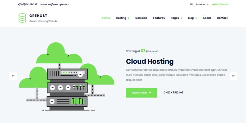 GREHOST - WHMCS & HTML Responsive Web Hosting