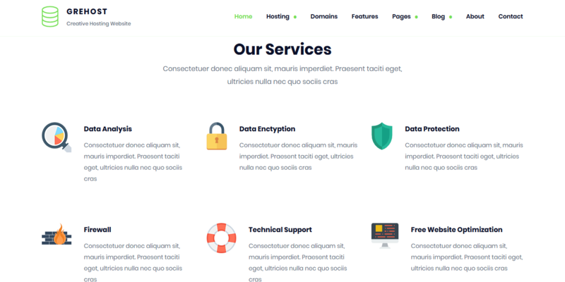 Download GREHOST - WHMCS & HTML Responsive Web Hosting