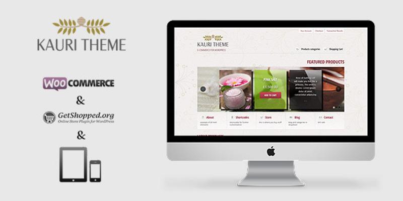 Kauri - responsive theme for WooCommerce