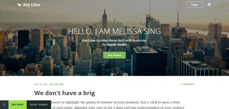 Key Lime - Parallax Blog Template