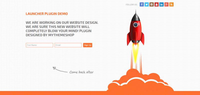 Launcher - Maintenance Mode WordPress Plugin