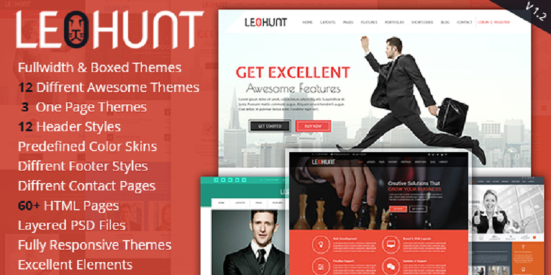 LeoHunt - Responsive Multi-Purpose HTML5 Template
