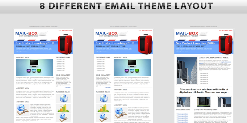 MAIL-BOX - Email Template - 8 Layouts