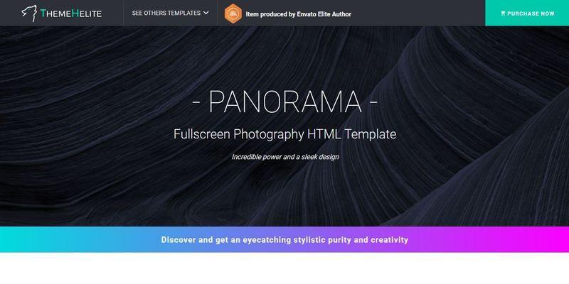 PANORAMA - Fullscreen Photography HTML Template