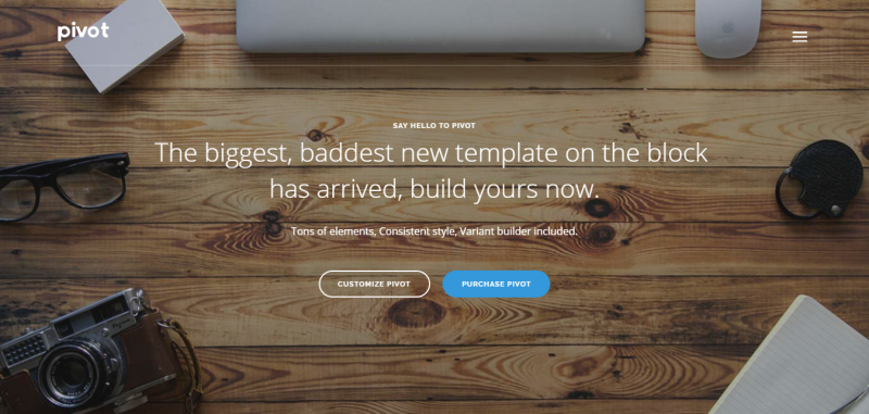 Pivot - Multi-Purpose HTML with Page Builder