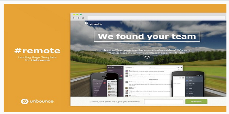 Remote - Unbounce Landing Page with Fullscreen Video Header