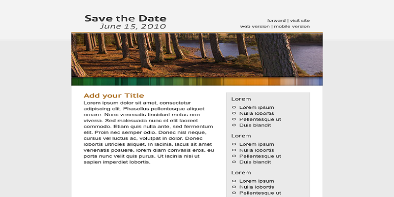 Save the Date Email Template