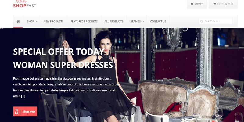 Shopfast - Responsive Zencart Template