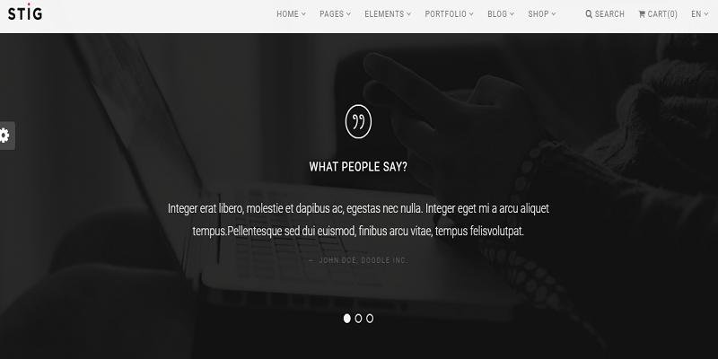 Stig - Multipurpose One/Multi Page Commerce Theme