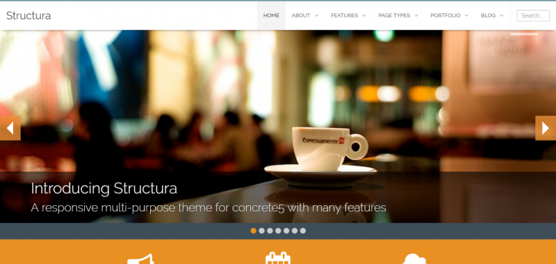 Structura Responsive Multi-Purpose Concrete5 Theme