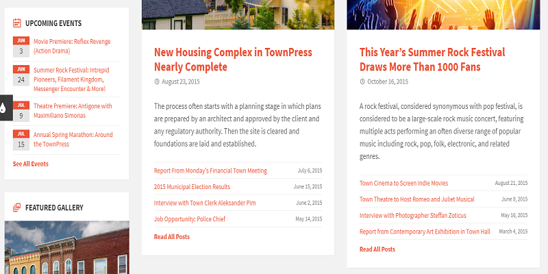TownPress - Municipality HTML Template