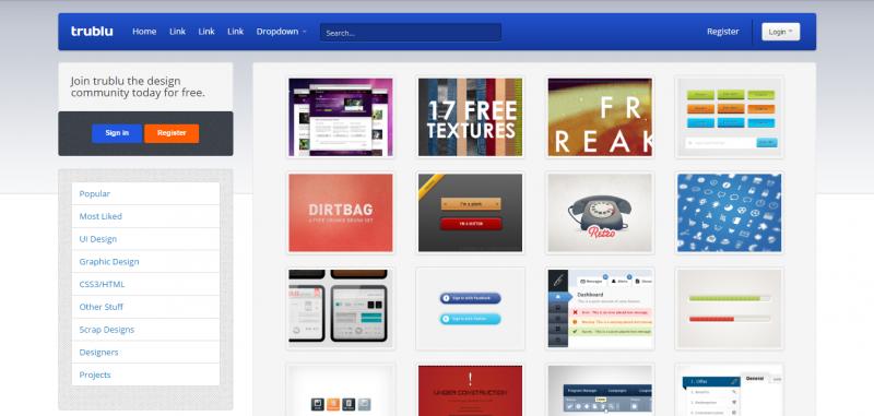 Trublu - Design Gallery Template | Portfolios & Resumes | WrapBootstrap