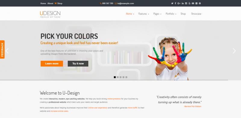 uDesign - Responsive WordPress Theme
