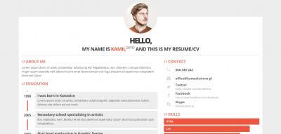 3ColorResume - Personal Resume/CV