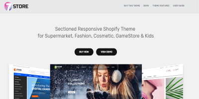 7Store - Sectioned Responsive Shopify Theme for Supermarket, Fashion, Cosmetic, GameStore & Kids