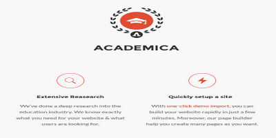 Academica - Education Center WordPress Theme