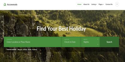 Accommodo - Accommodation Travel Template