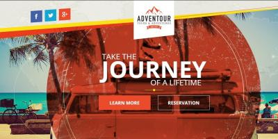 Adventour - Pagewiz Travel Landing Page