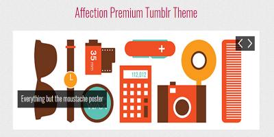 Affection - a responsive Tumblr theme
