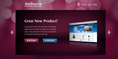 Ambiento Premium Landing Page