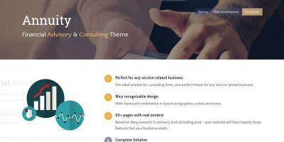 Annuity - Financial Advisory & Consulting Theme