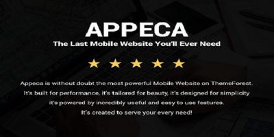 Appeca Mobile - Ultimate Premium Mobile Template