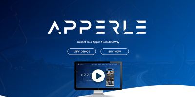 Apperle - App Landing Page HTML template with Page Builder