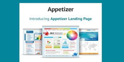 Appetizer Landing Page