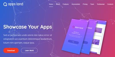 AppsLand - App Landing Page HTML Template
