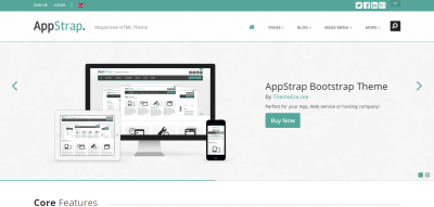 AppStrap - Responsive Website Template