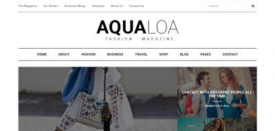 Aqualoa - WordPress Theme