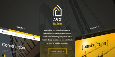 AVXBuilder - Construction Business WordPress Theme