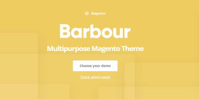 Barbour - Multi-Purpose Responsive Magento 2 and Magento 1 Theme