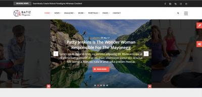 Batiz - Responsive Magazine News Drupal 8.6 Theme