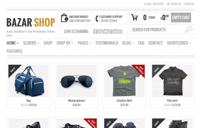 Bazar Shop - Multi-Purpose e-Commerce Theme