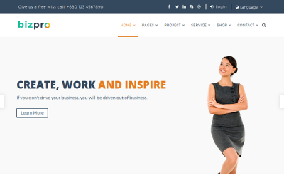 Bizpro - Responsive Website Template