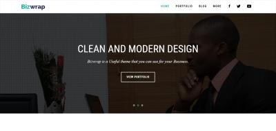 Bizwrap - Elegant Minimal Business