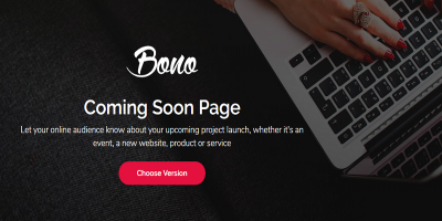 Bono - Coming Soon Page Template