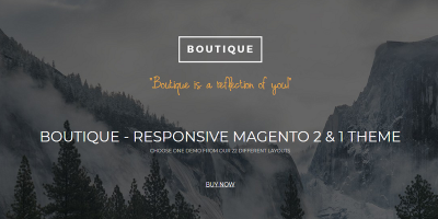 Boutique - Multipurpose  Magento 2 & 1 Fashion Theme